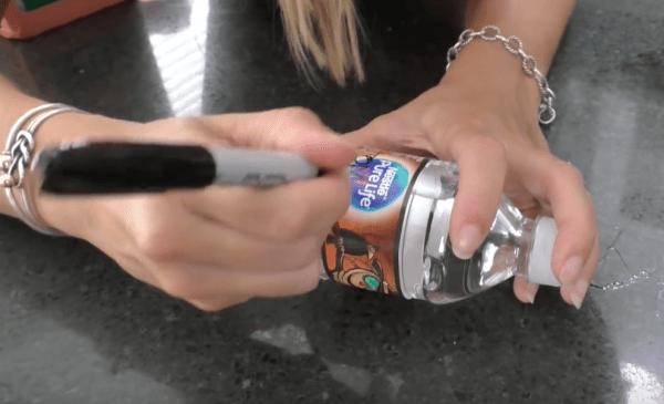 label water bottle