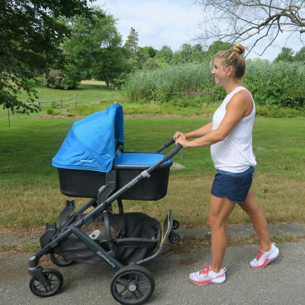 Hoka One One stroller walk