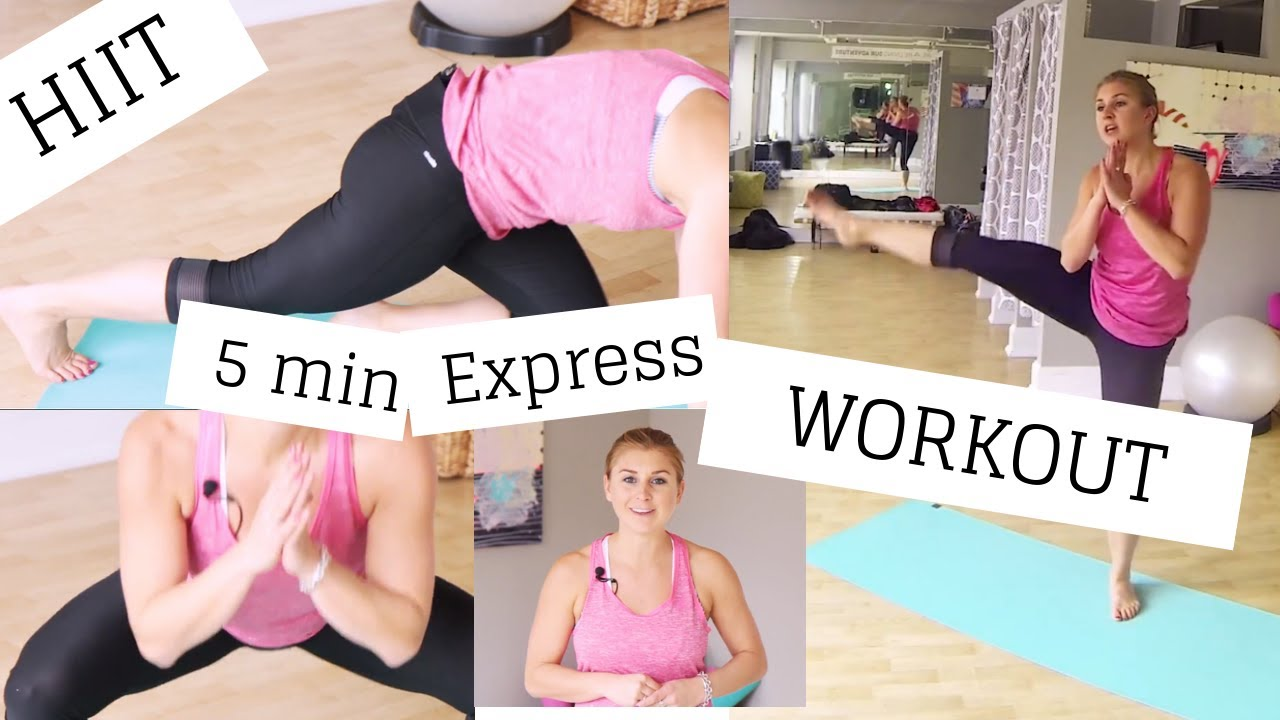 5 min HIIT Express Workout: Morning Metabolism Boost