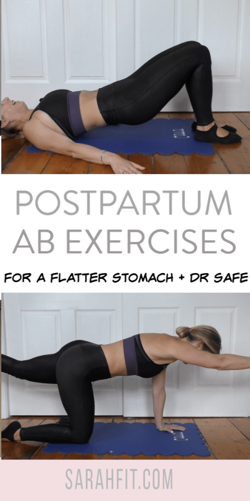 Postpartum post natal ab safe workouts