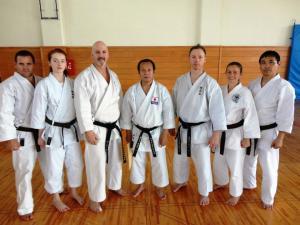 After the Seiwakai grading with Fujiwara Shihan