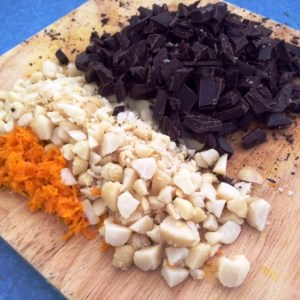 orange macadamia chocolate ingredients