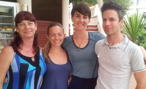 2013: The original crew in our second year. We're all lecturers at Endeavour College of Natural Health now: Nicky Macdonald, Sarah George, Lori-Ellen Grant, David Schievenin