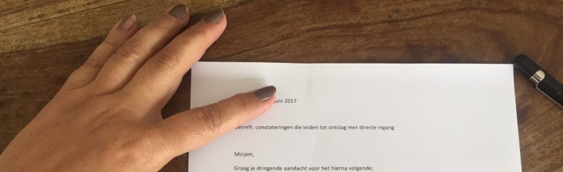 ontslag op staande voet brief