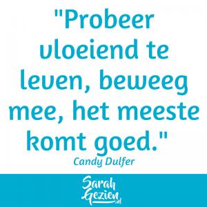 Sarah Gezien - Candy Dulfer - probeer vloeiend te leven