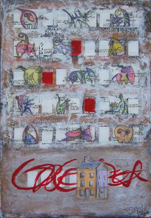 Sarah Gilbert Fox emerging artist Relais and Chateaux original fine art Relais & Châteaux