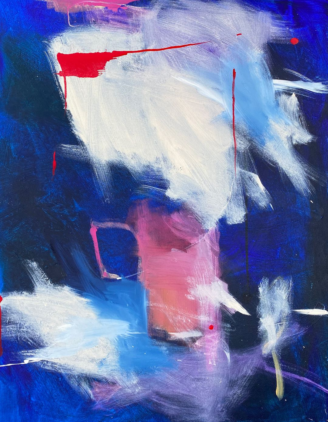 Contemporary abstract expressionism, abstract figurative art with markmaking, mark making in abstract figurative painting, new york art gallery online