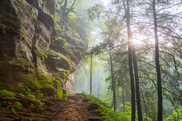 Hocking Hills Outside of Rock House