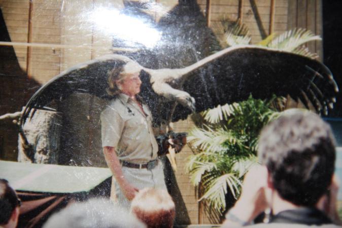 Barney with vulture - Ode to Barney Hale Folger