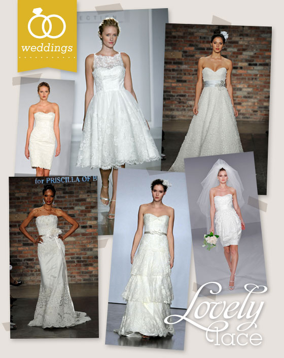 Lace Wedding Gowns by Pricilla of Boston - Sarah Hearts