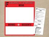 The Flattery flatbread food truck menu board and printable menu