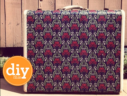 Mod Podge Fabric Covered Suitcase DIY