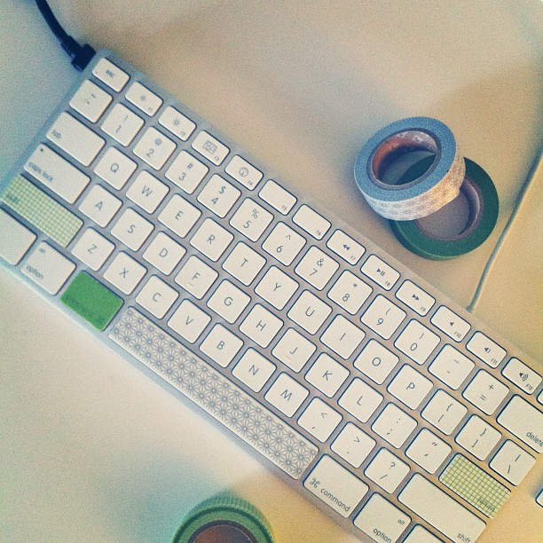 washi tape mac keyboard