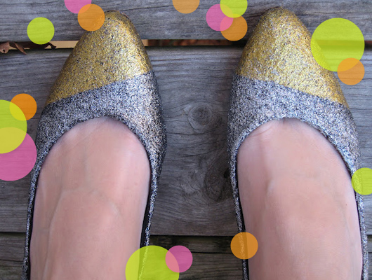 crafternoon gold silver diy glitter shoes