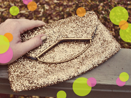 crafternoon gold diy glitter purse