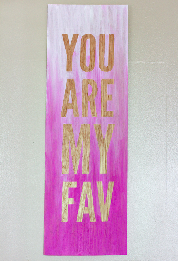 diy ombre quote wall art 3