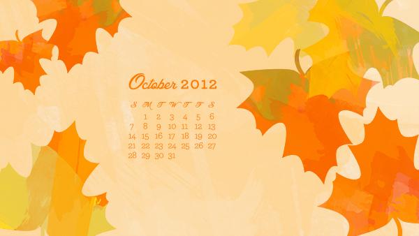 October computer iphone ipad calendar wallpaper