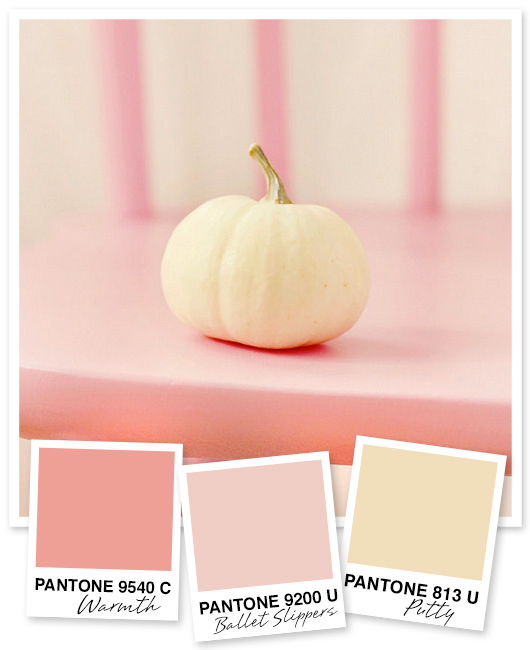 pink and ivory cream color palette