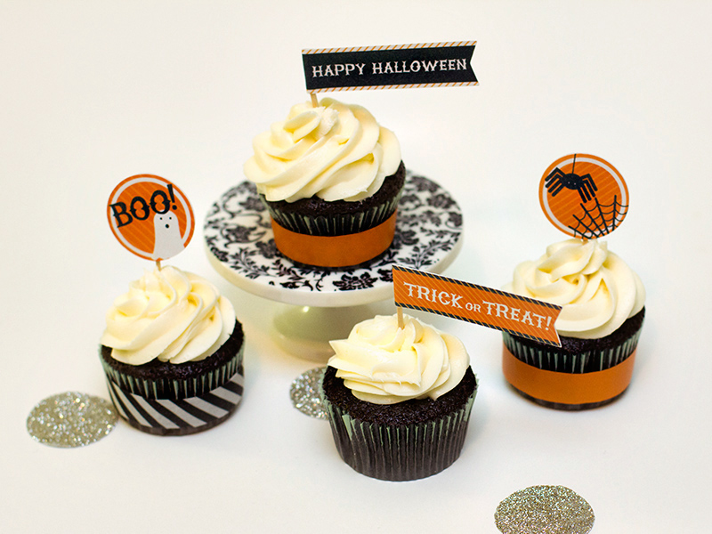 Free Halloween Cupcake Topper Printable