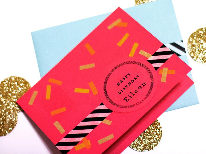 Washi tape birthday cards from Sarah Hearts