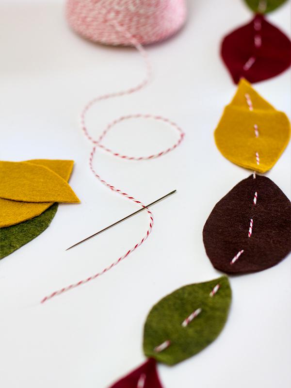 Simply DIY Felt Leaf Garland