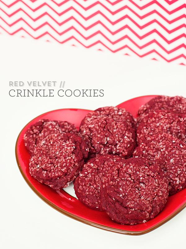 Red Velvet Crinkle Cookies by Sarah Hearts