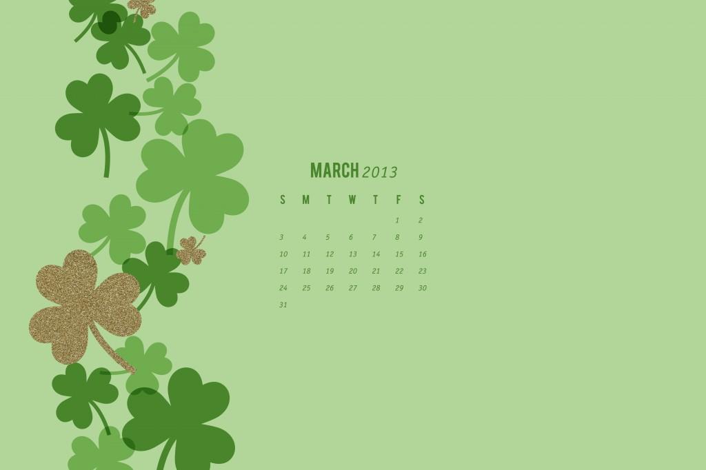 March 2013 Calendar Wallpaper by Sarah Hearts