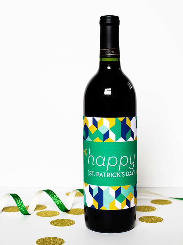 Sarah Hearts | DIY St. Patrick's Day Printable Bottle Labels