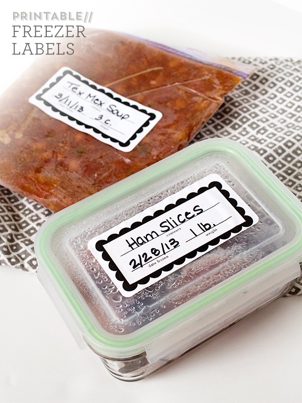 graphic relating to Printable Freezer Labels identified as Printable Freezer Labels and Recipes - Sarah Hearts