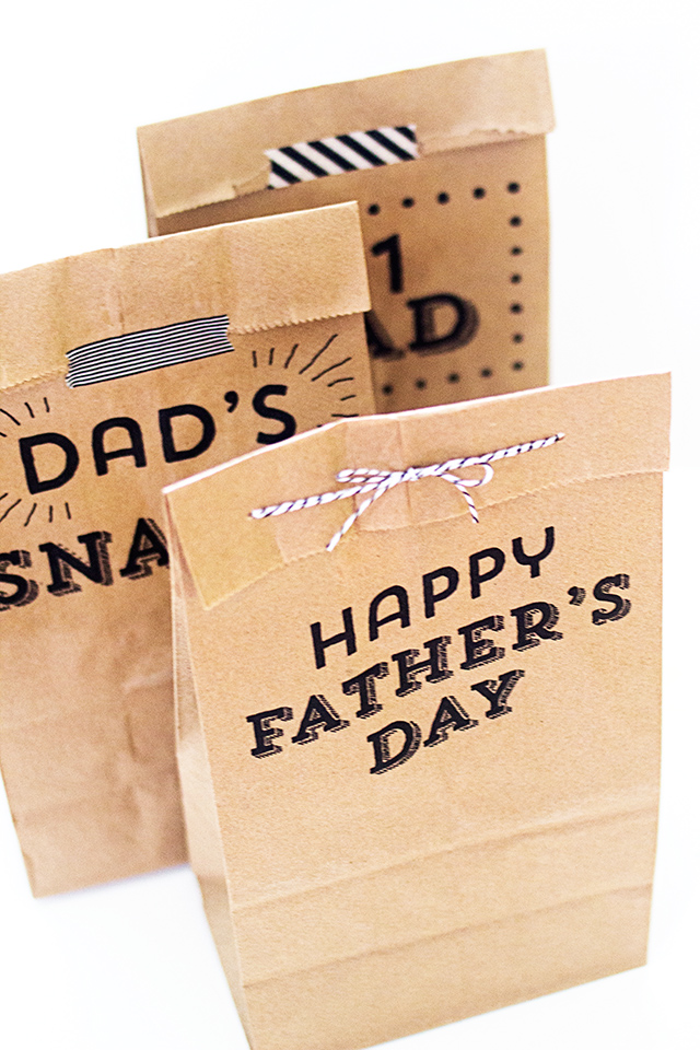 graphic relating to Printable Paper Bags named Printable Fathers Working day Paper Luggage - Sarah Hearts
