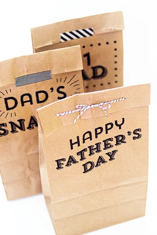Learn how easy it is to use your home printer to make these cute bags for Father's Day!