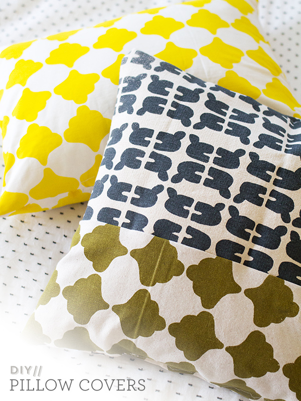 Hand Screen Printed Fabric Pillows | Sarah Hearts