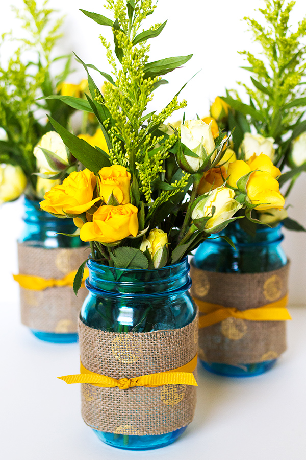 Sarah Hearts | Mason jar wedding idea Pin this to one of your boards with hashtag #heritageblue for a chance to win a jam maker and case of these jars!