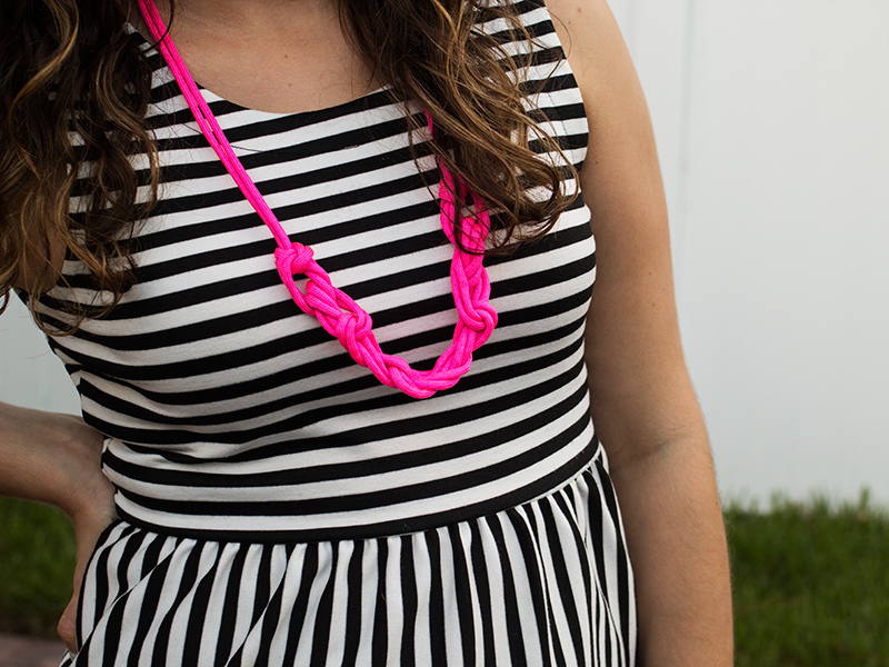 DIY Corded Knot Necklace | Sarah Hearts