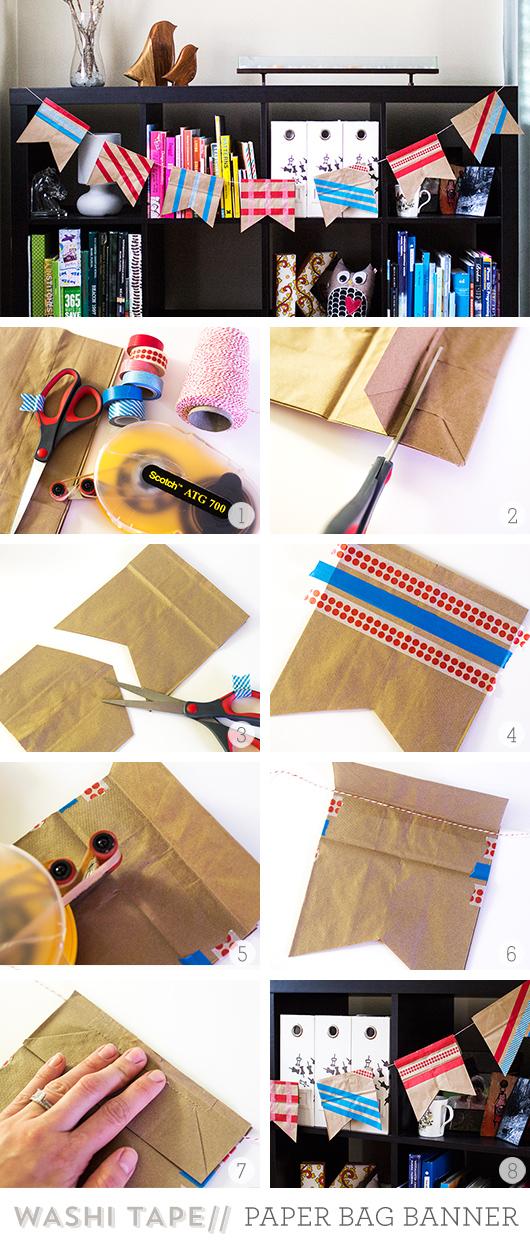 Washi Tape Paper Bag Bunting Garland | Sarah Hearts