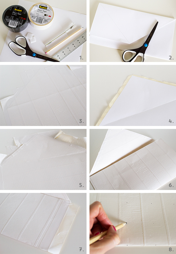 DIY Duct Tape Chevron Clutch Purse | Sarah Hearts