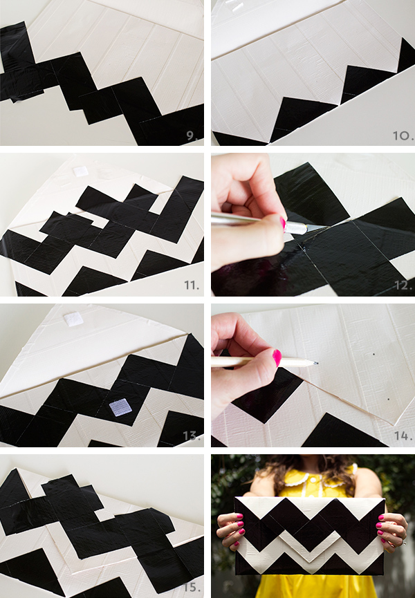 DIY Duct Tape Chevron Clutch Purse | Sarah Hearts