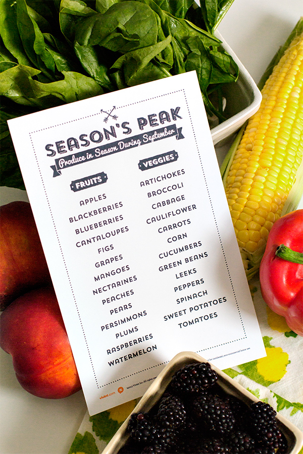 September Seasonal Produce | Sarah Hearts