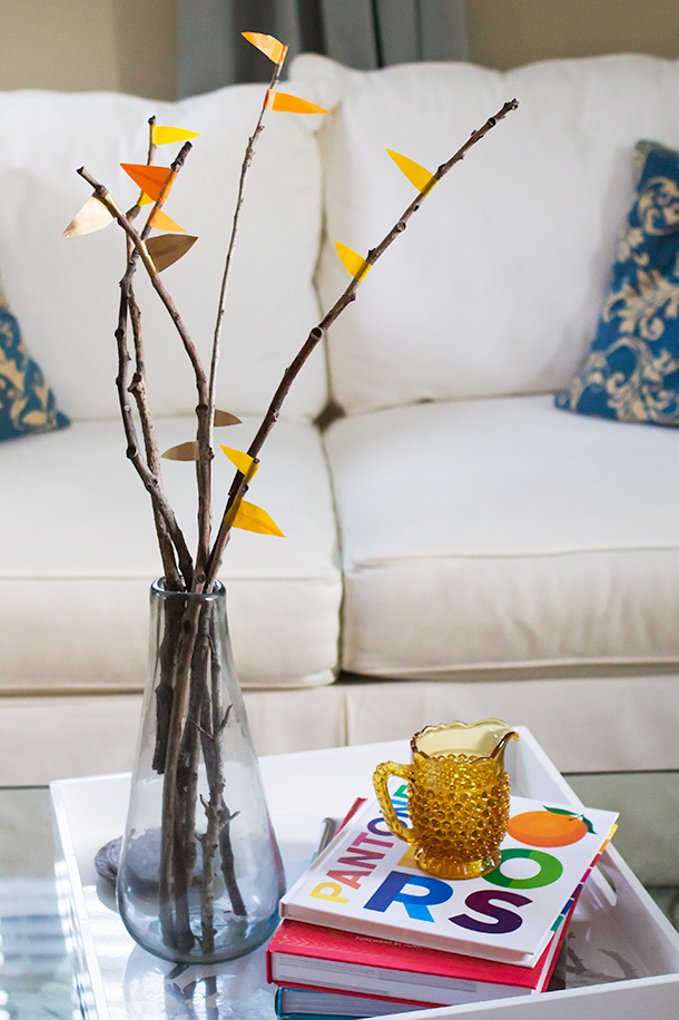 DIY Washi Tape Fall Branches | Sarah Hearts