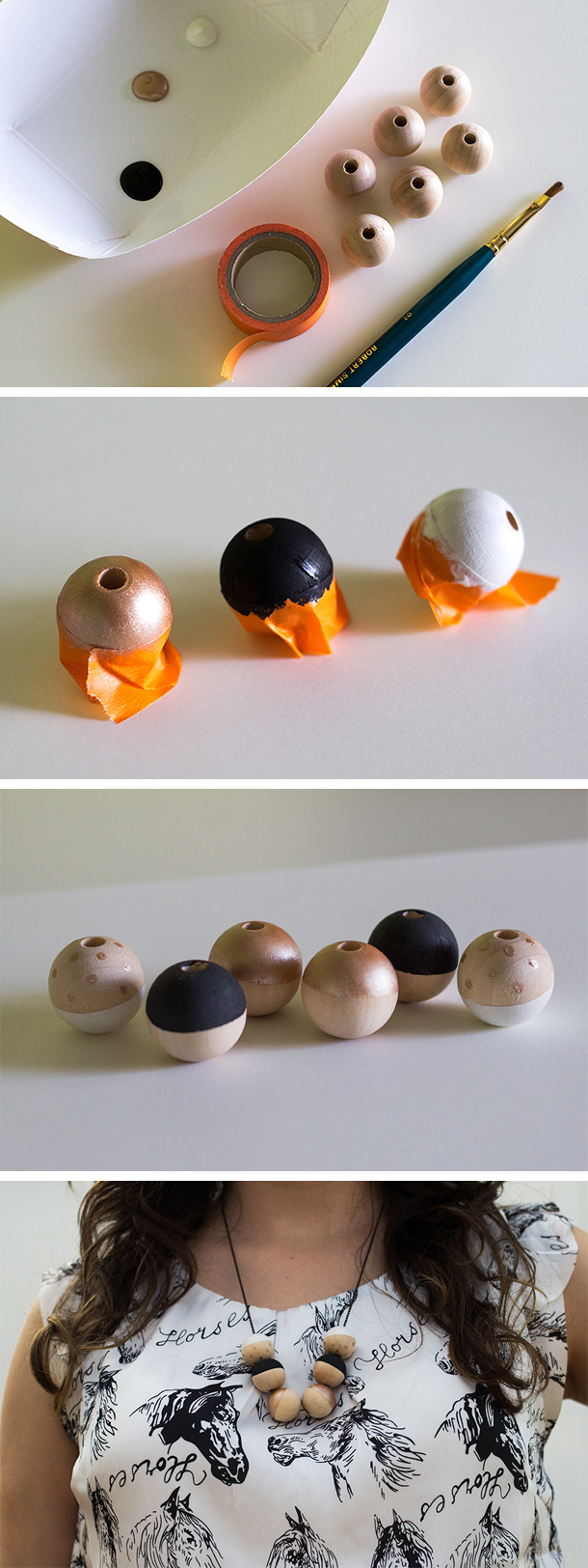 DIY Painted Wood Bead Necklaces with Bing Smart Search