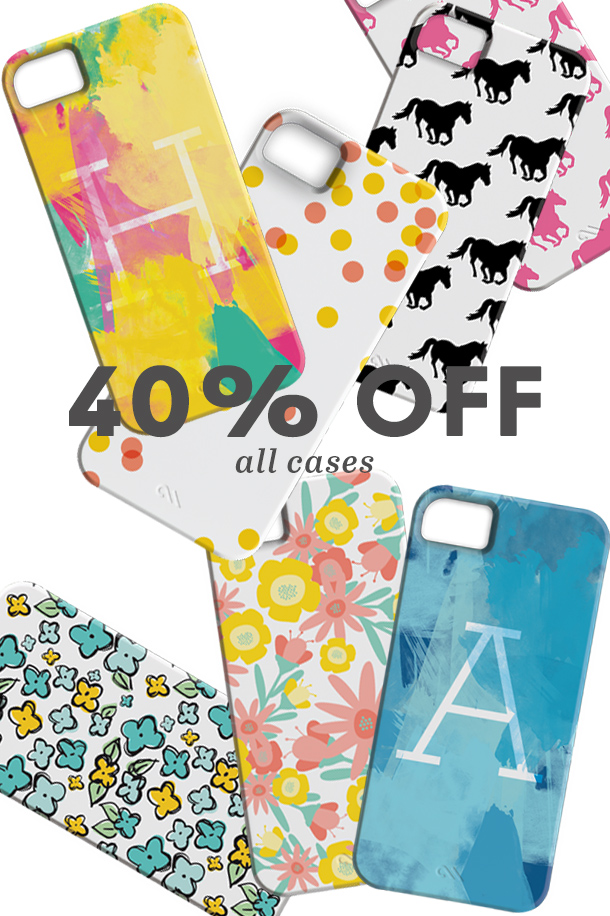 Use the code HEARTCYBERMONDAY to get 40% off all iPhone Cases