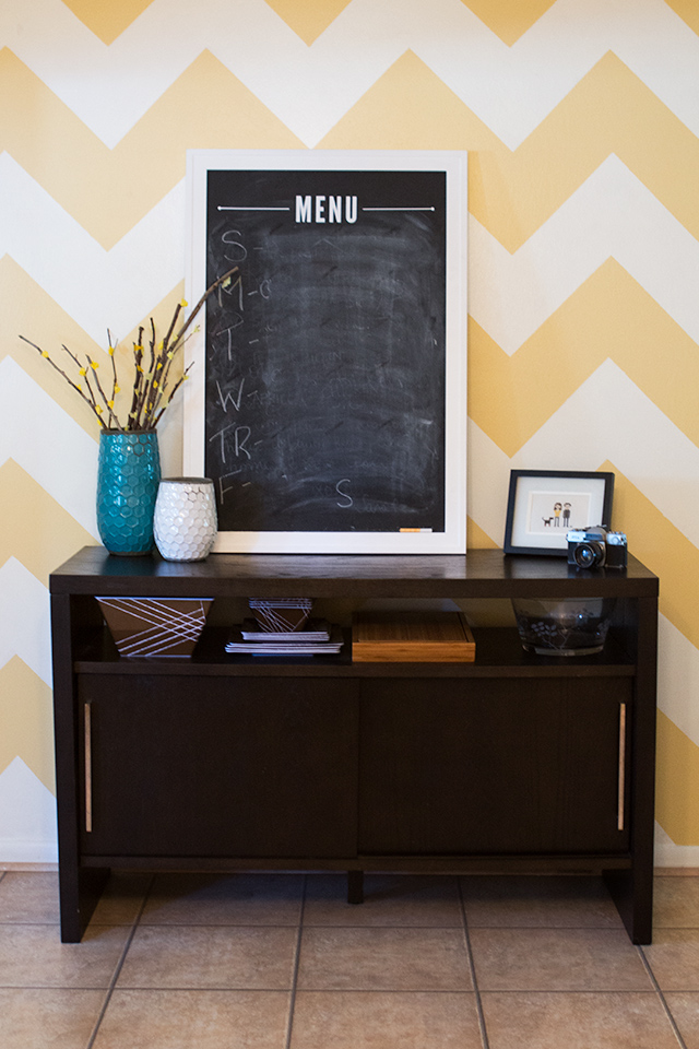 House Tour: Chevron Wall in Dining Room