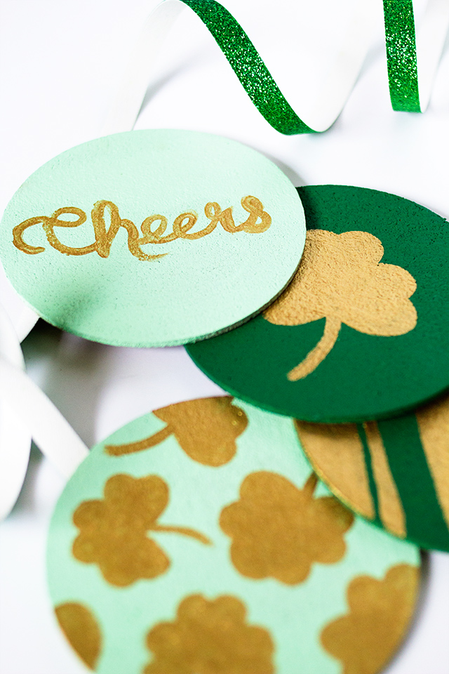DIY St. Patrick's Day Coasters