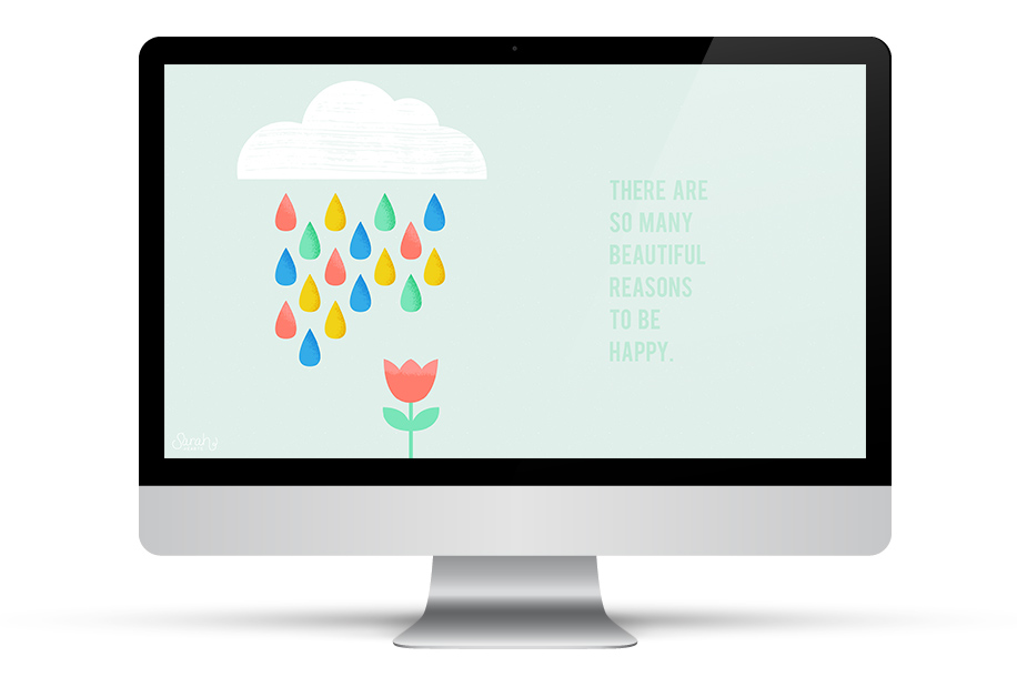 Dress up your phone, tablet and computer for spring with this inspiring free wallpaper!