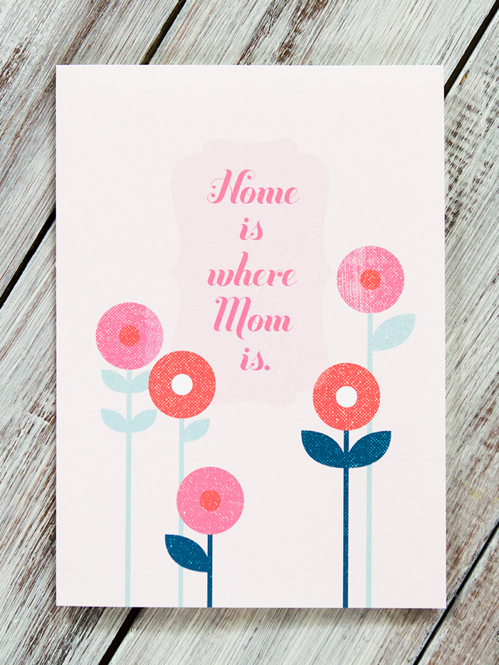 Let your mom know how much you love her with this free printable card.