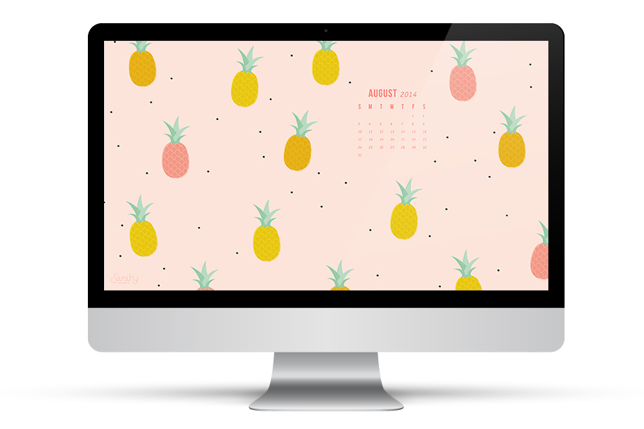 Put a pineapple on it! Dress up all your devices with this free August calendar wallpaper.