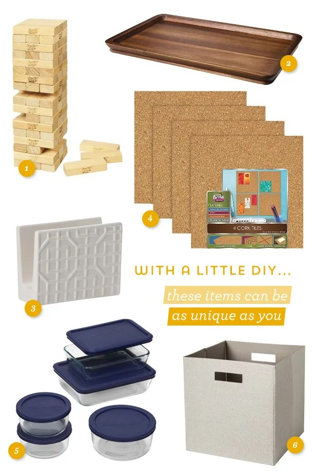 Getting married soon? Here are some great registry items with awesome ideas on how to customize them!