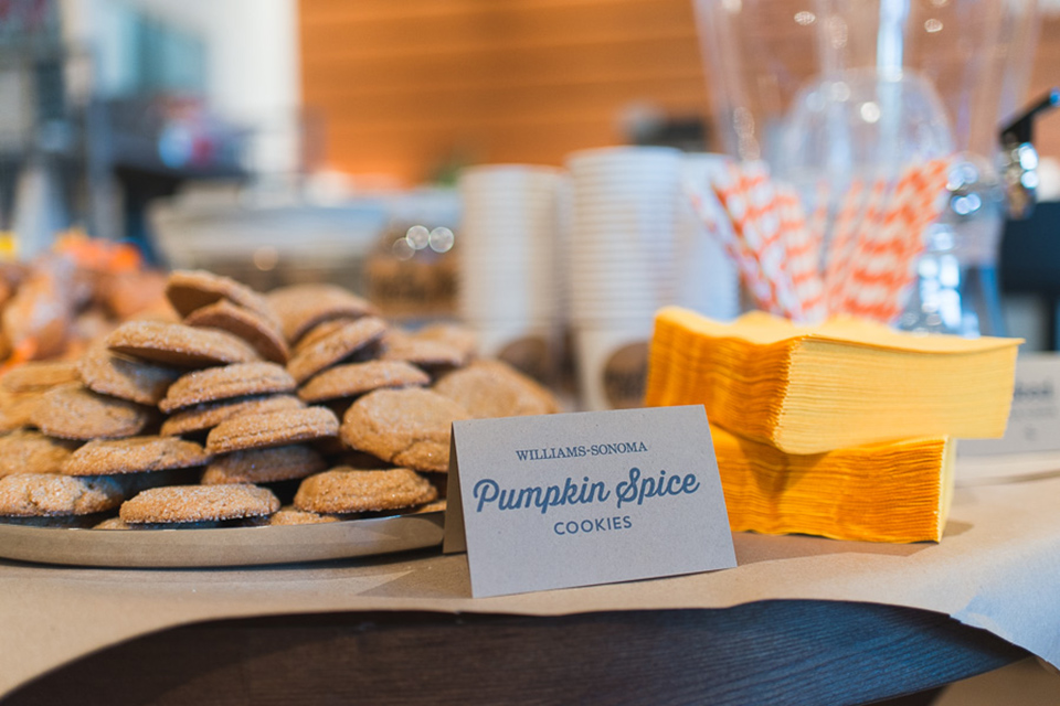 Pumpkin spice cookies made  from a Williams Sonoma mix. So simple and so tasty.