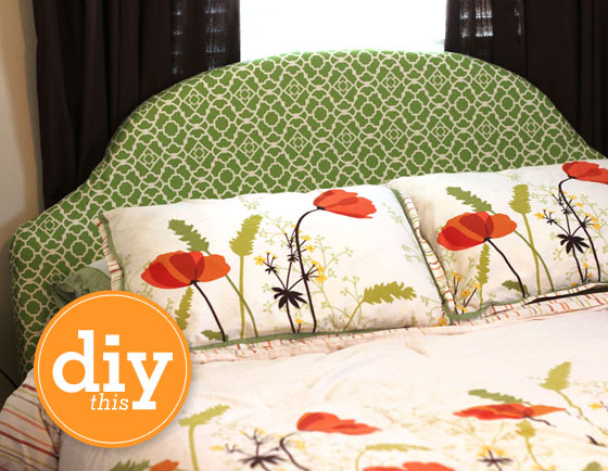 Learn how to make your own upholstered headboard with this easy to follow tutorial.