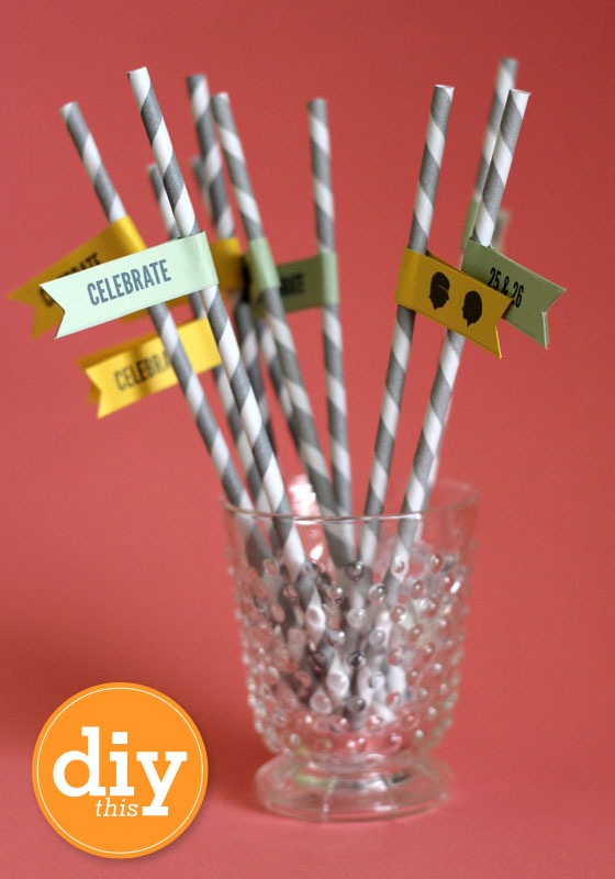 Make custom flags for paper straws using this free Word template.
